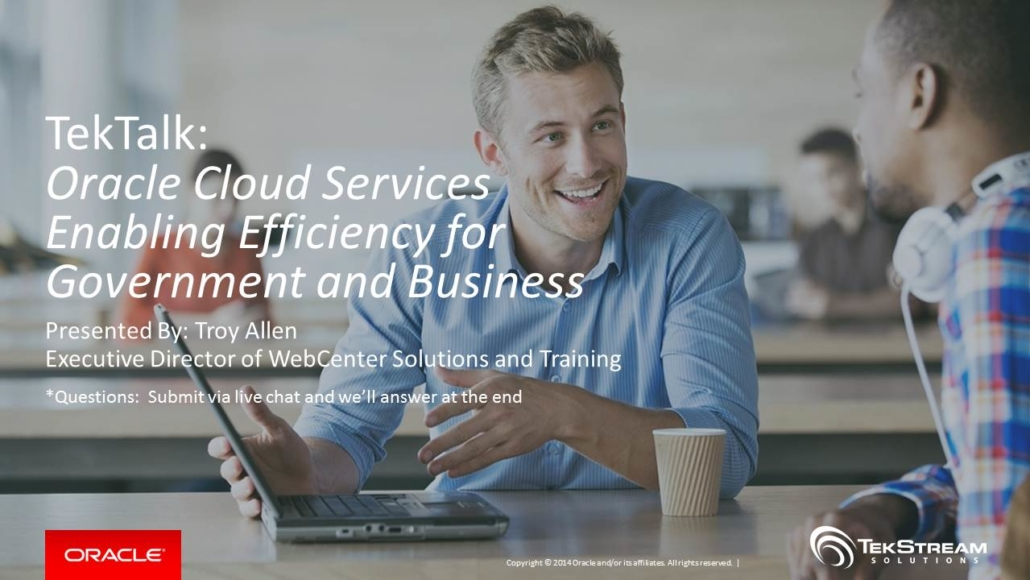 TekTalk Webinar - Oracle Cloud Services