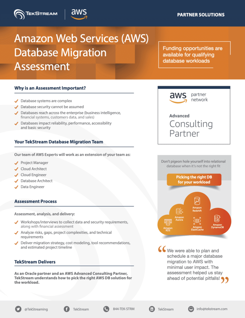 AWS Database Migration Assessment